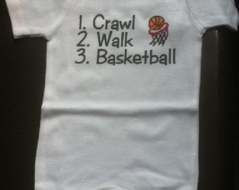 Basketball baby outfit infant clothes shirt one piece bodysuit you choose color and size!