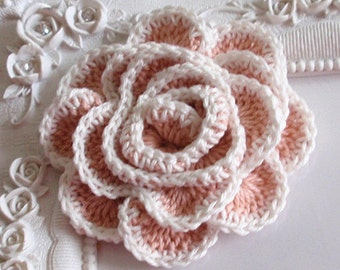 Crochet flower applique CH-022-01