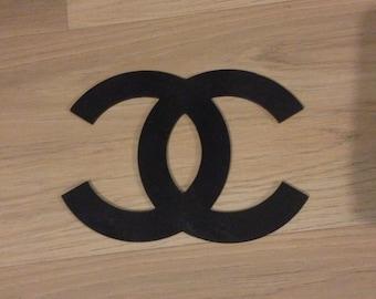 Coco Chanel logo wooden