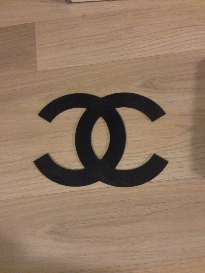 Coco Chanel Logo Wooden
