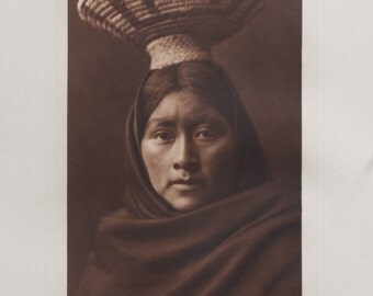 Luzi Girl  Papago The North American Indian, Edward S. Curtis, Photogravure, 1907