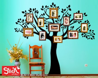 Family tree decal, Family tree wall sticker, Removable wall decals