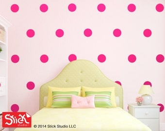 Marvelous Pink Polka Dot Wall Decals | Pink Polka Dot Decals | Alternative To Pink  Polka Dots Photo