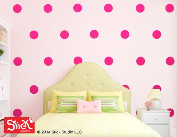 pics photos polka dot decals three pinks wall stickers decoration wall stickers pink polka dots children s