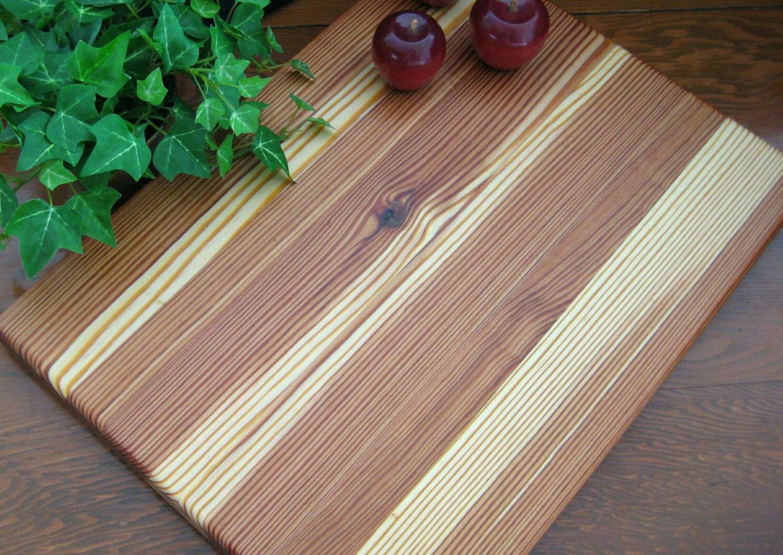 Pine Wood Board ~ Reclaimed longleaf pine wood cutting board
