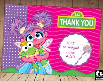 Abby Cadabby Thank you card
