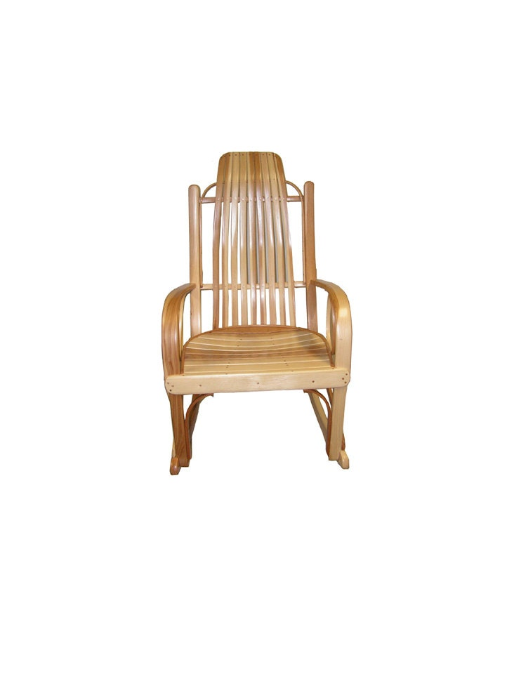 Free Ship Solid Hickory Amish Bentwood Rocking by RusticStyles