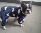 "Dog fleece onesie /  Pyjamas all in one suit. Extra Large up to 32"" neck to tail"