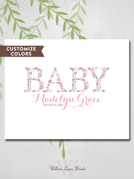 Baby Shower Guest Book Canvas ~ Baby shower guest book canvas pink and brown by