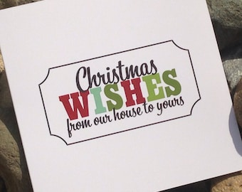 Christmas Cards, Holiday Card Set, Personalized Holiday Cards - From Our House to Yours