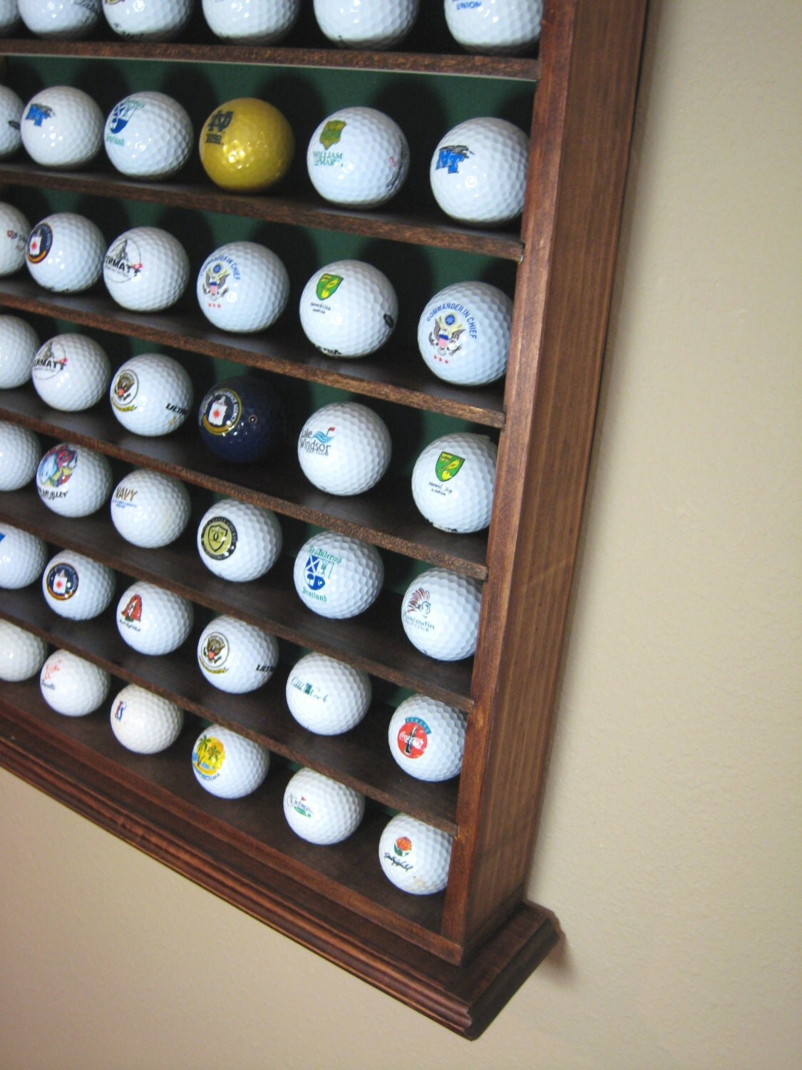 Handcrafted 42 Golf Ball Collection Display Case Or Display