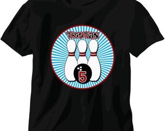 personalized kids tshirt for Bowling party - bowling shirt for birthday party - cool kids t shirt - funny tshirt