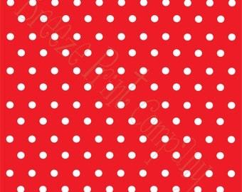 Red with white polka dots craft  vinyl sheet - HTV or Adhesive Vinyl -  polka dot pattern   HTV14