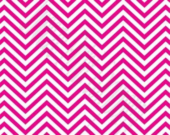 Magenta chevron craft  vinyl sheet - HTV or Adhesive Vinyl -  hot pink and white zig zag pattern   HTV48
