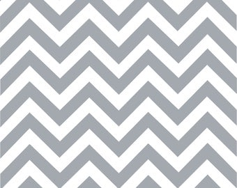 Gray chevron craft  vinyl sheet - HTV or Adhesive Vinyl -  gray and white large zig zag pattern   HTV107