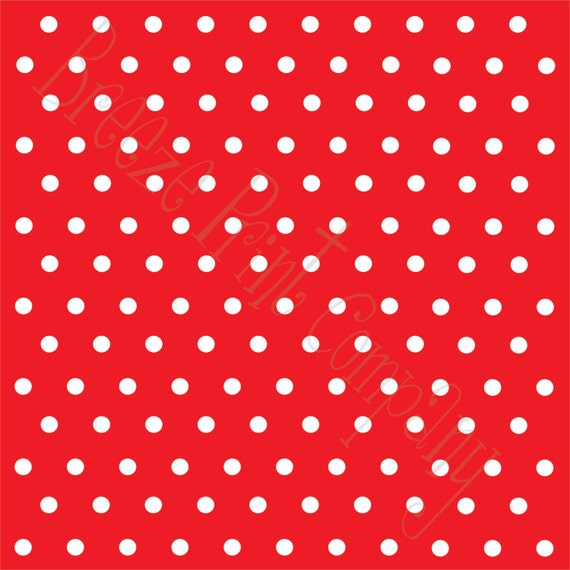 Red with white polka dots heat transfer vinyl sheet polka dot for Red and white polka dot pattern