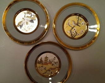 The Hamilton Collection Japanese Floral Calendar Plates
