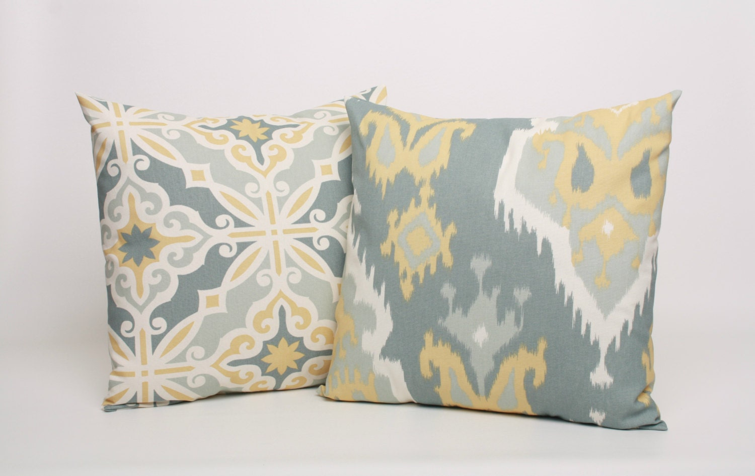 Yellow And Grey Throw Pillow Covers : Yellow and Gray Throw Pillow Covers Set of by DimensionsHomeDecor