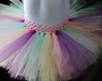 Easter Tutu, Yellow, Pink, Purple, Mint and Light Blue Tutu, Pastel Tutu, Rainbow Tutu, Colorful Tutu Newborn to 6T Tutus, Easter Tutu