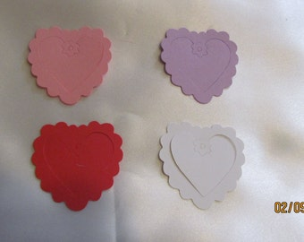 scallop heart die cut