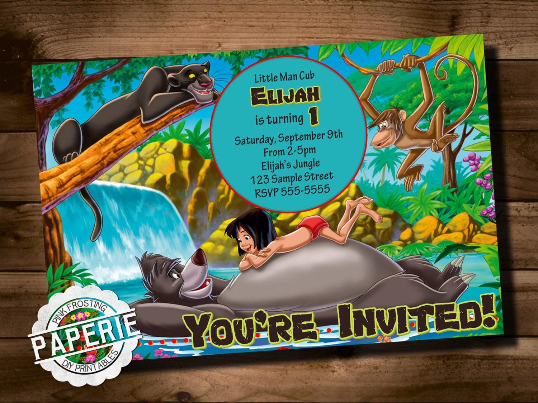 Jungle invitations – Jungle Theme Birthday Invitations