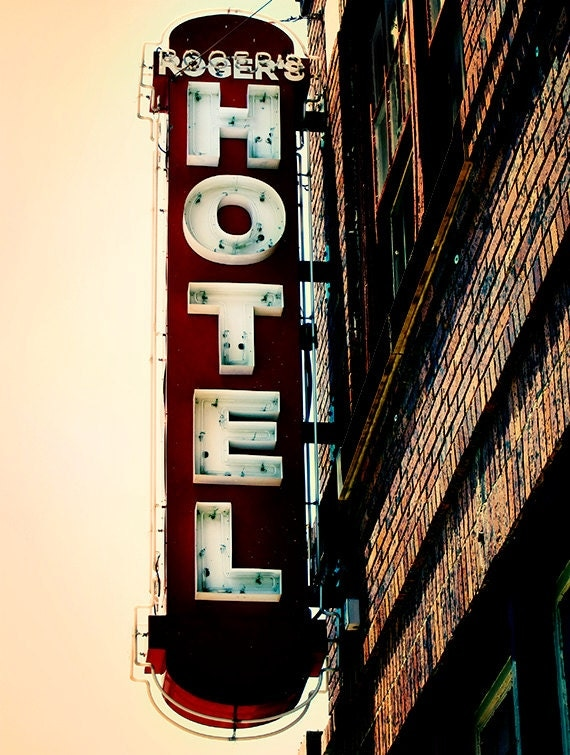Items similar to urban history vintage retro hotel sign for Hotel decor items