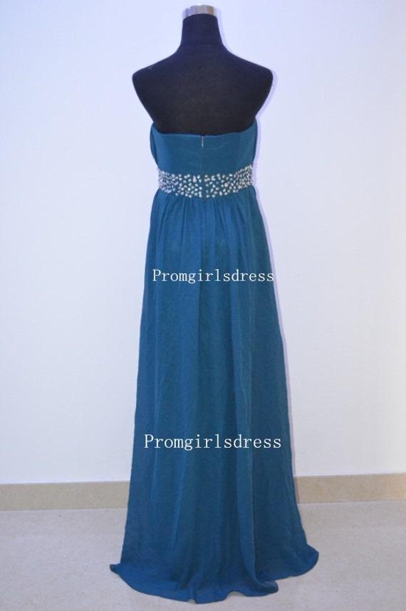 prom dress long prom dress prom dress 2014 navy blue by