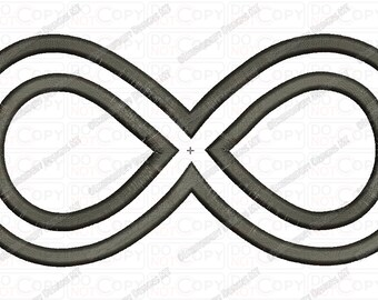 Infinity Symbol Applique Embroidery Design in 3x3 4x4 and 5x7 Sizes