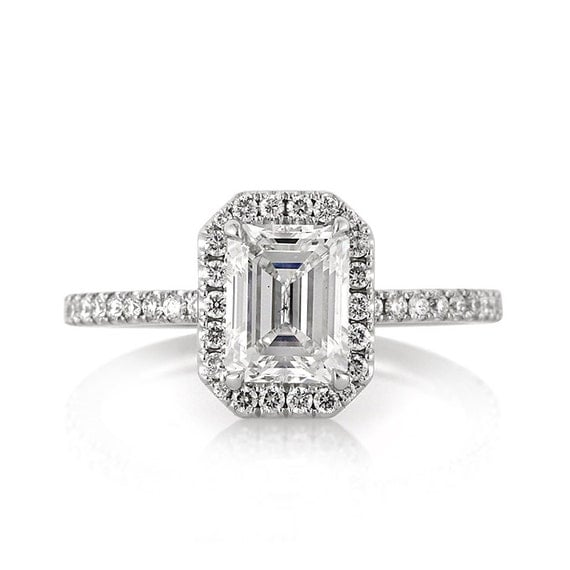 items similar to 2 15ct emerald cut engagement