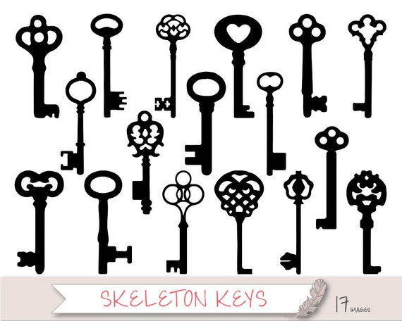 Key Clipart Key Silhouette Clipart Skeleton Key Clip Art
