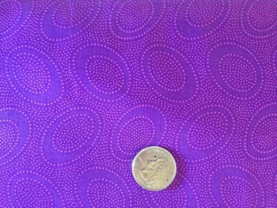 ABORIGINAL DOT GP71 Plum Purple Kaffe Fassett Sold in 1/2 yard increments