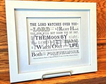 Baby Boy Baptism Gift - Christening Gift - Personalized Baptism Gift - Baptism gift for Godchild - Religious Art - Framed Art - Baby gift