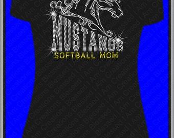Rhinestone tshirt Mustangs