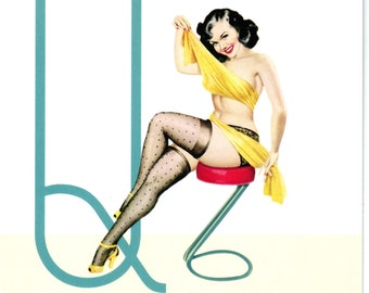 Q is for Quicky Pin-Up Girl Poster