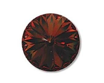 Smoked Topaz Rivolis Swarovski Crystal Rivoli Swarovski 12mm Qty 2 Smokey Topaz Brown
