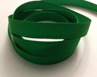 "5 Yards 3/8"" Aqua-Lme Green-Emerald-Hunter Green Grosgrain ribbon-Hair Bow Supply-Clippies-Sewing-Fabric-Solid color Ribbon-Supplies-Craft"