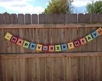 Little Monsters Birthday Banner
