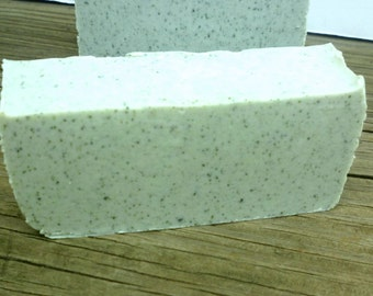 Green Zeolite Soap - All Natural Soap - Unscented Soap - Exfoliating Vegan Soap - Fragrance Free Soap - Clay   Soap - Organic Soap