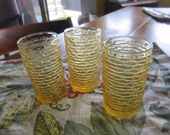 Three Small Vintage Sereno Glasses