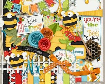 Bees Knees Digital Scrapbook Kit