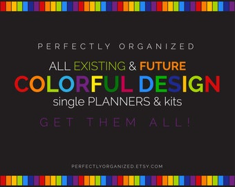 All RAINBOW Perfectly Organized Printable Editable Planners + future designs || Planners Organizers DIY  || Household PDF Printables