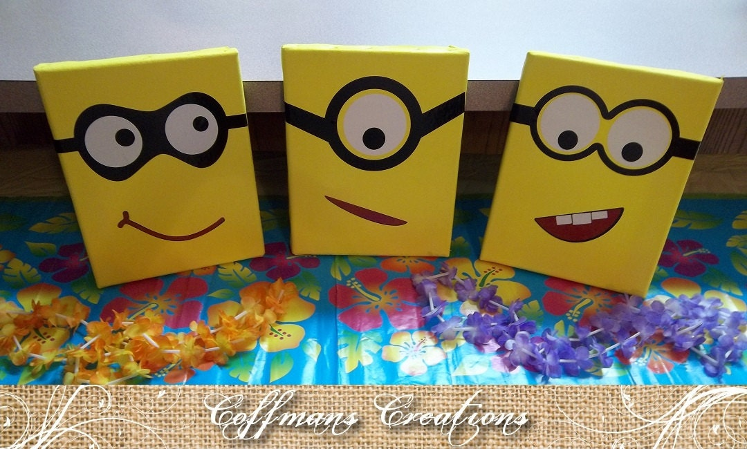 items similar to minion birthday party decorations and. Black Bedroom Furniture Sets. Home Design Ideas