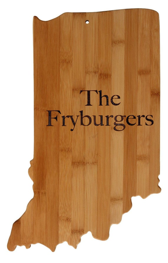 indiana state shaped cutting board personalized by aestheticwood. Black Bedroom Furniture Sets. Home Design Ideas