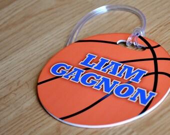 Basketball Bag Tag, Personalized Basketball Bag Tag, Basketball Luggage Tag, Gifts for Basketball, Sports Bag, Custom Bag Tag, Gift, Custom