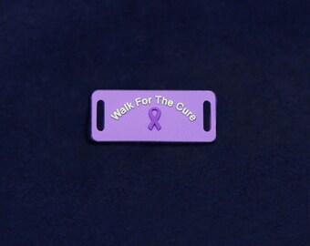 Purple Ribbon Shoe Lace Charms (RE-SHOECHARM-4)