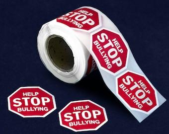 250 Help Stop Bullying Anti-Bullying Stickers - 250 Stickers (ST-05-BU)