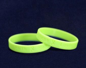 50 Lyme Disease Awareness Silicone Bracelets - 50 Bracelets (SILB-9)