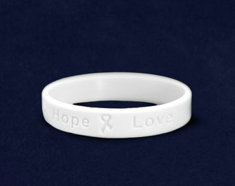 Lung Cancer Awareness Silicone Bracelet (RE-SILB-15)