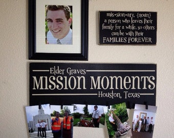 Mission Moments picture plaque