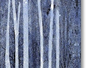 Trees Vertical on Stretched Canvas